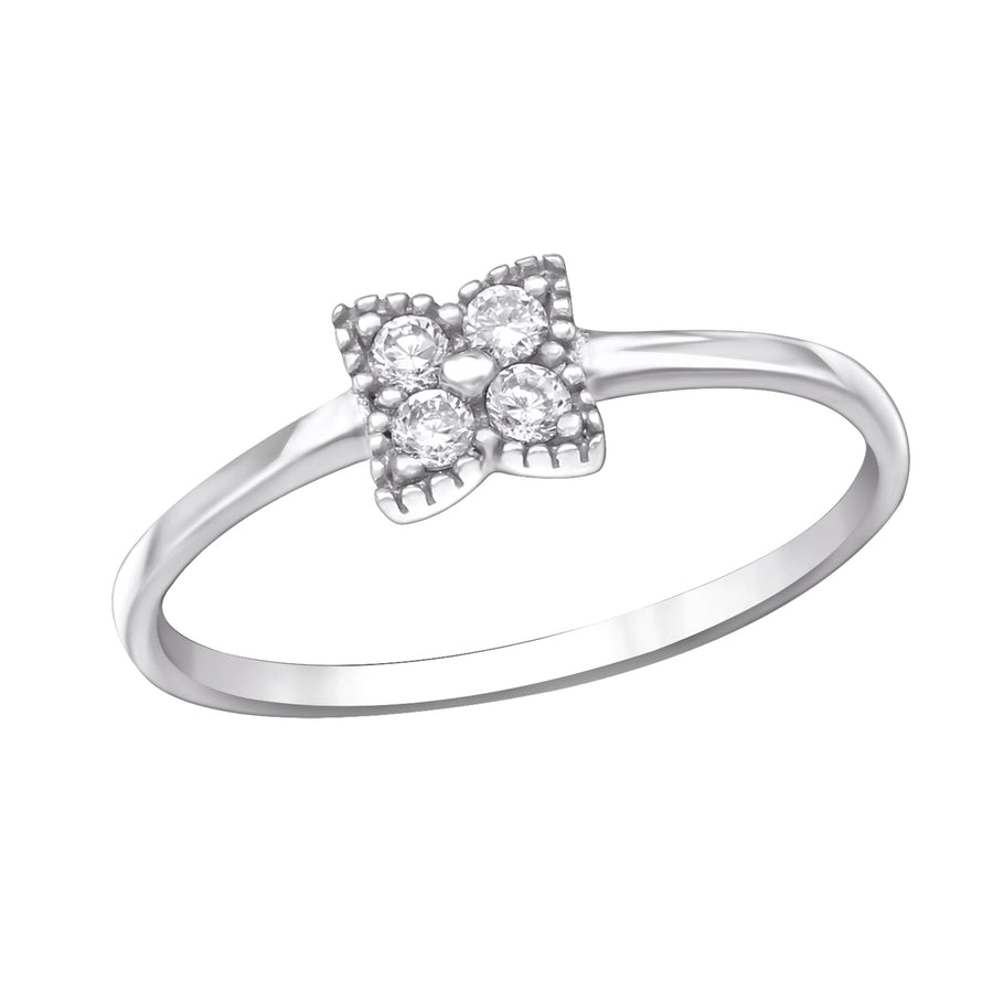 Sterling Silver Sparkling Ring with Cubic Zirconia