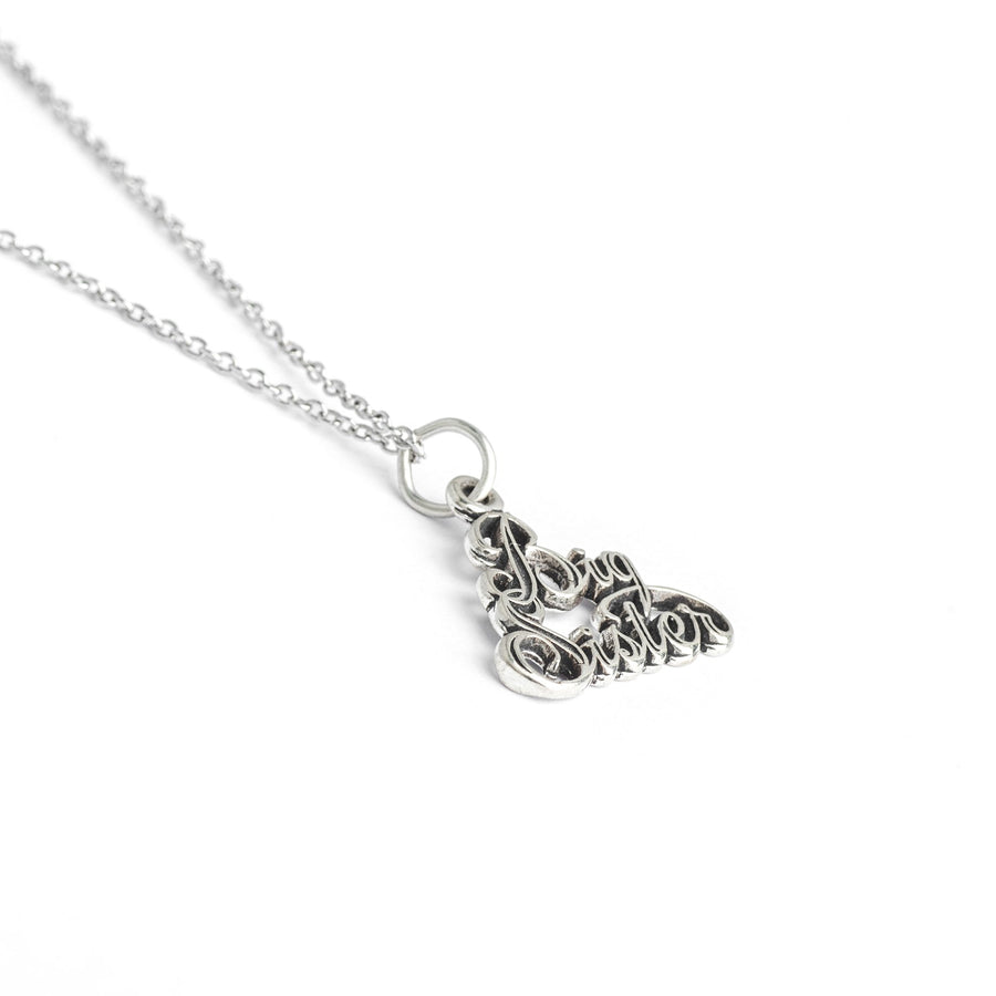 Sterling Silver Sister Necklace, My Big Sister