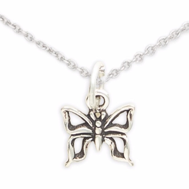 Sterling Silver Butterfly Necklace, Like A Butterfly