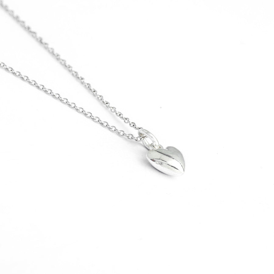 Sterling Silver Heart Necklace, Classical Love