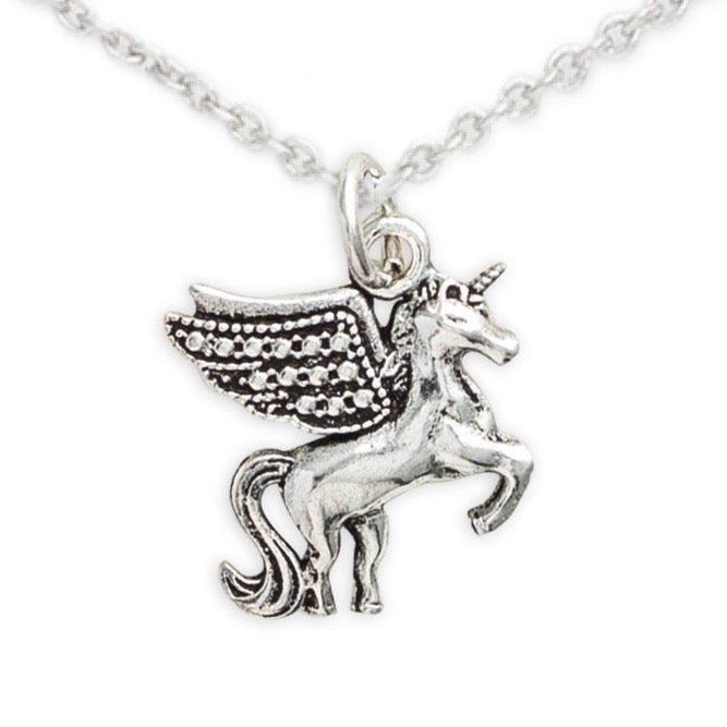 Sterling Silver Pegasus Necklace, Dream On Pegasus