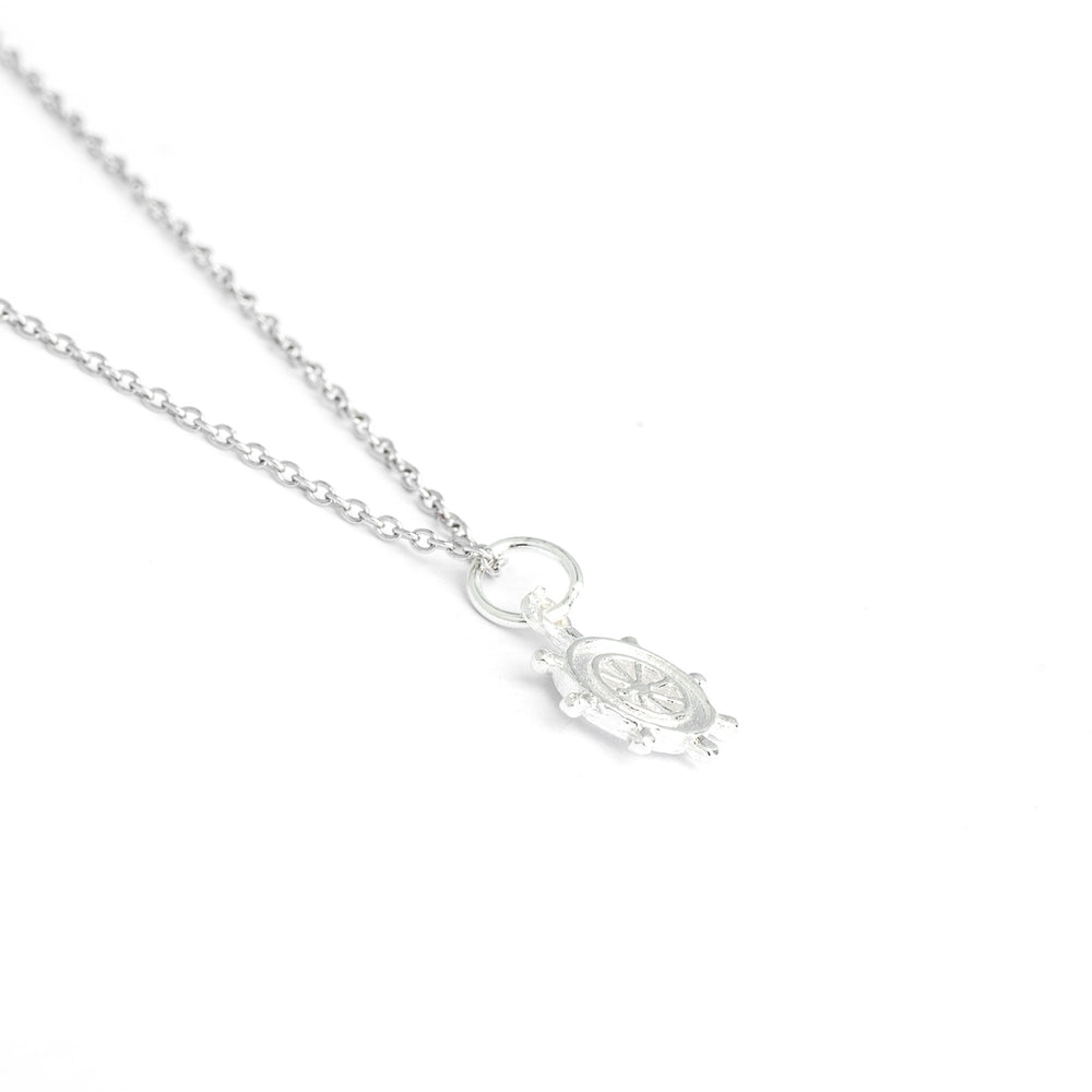 Sterling Silver Rudder Necklace, #1 Rule of Life