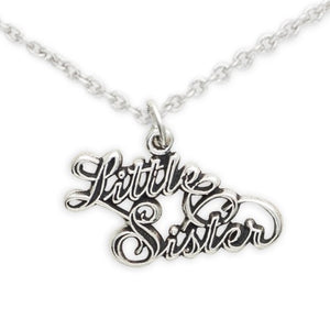 Sterling Silver Sister Necklace, Little Sister