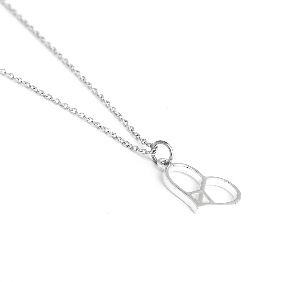 Sterling Silver Peace Love Necklace, Peace Love Happiness