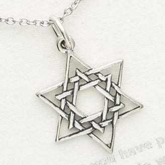 Sterling Silver Star of David Necklace, Star of David