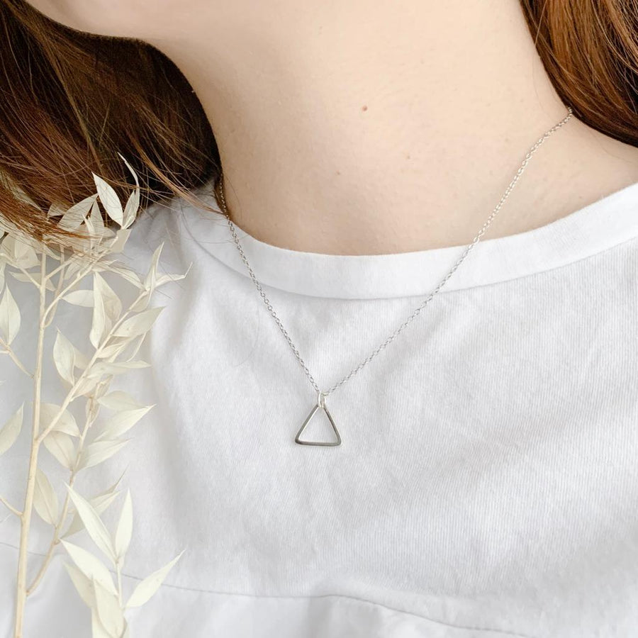 Sterling Silver Geometry Necklace/Bracelet, Simple Life - Triangle