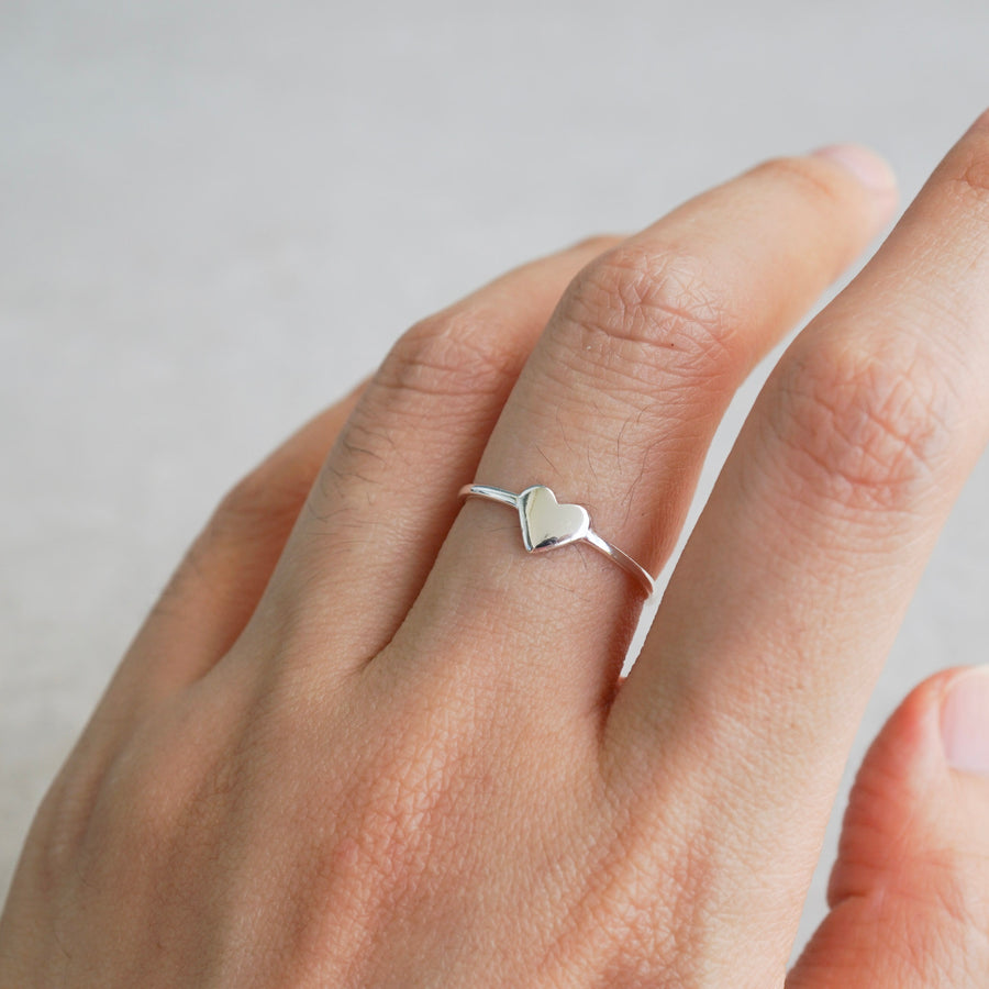 Sterling Silver Heart and YOU Double Sided Ring