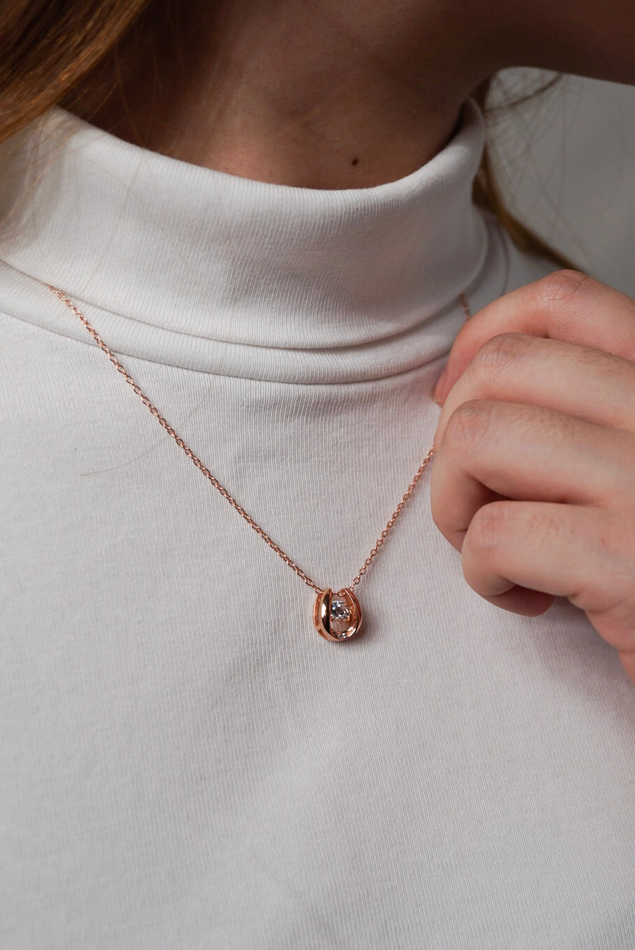 Rose Gold Dancing Diamond Horseshoe