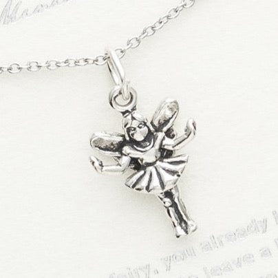 Sterling Silver - Sterling Silver Fairy Necklace, The Magical Fairy
