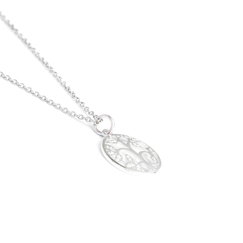 Sterling Silver - Sterling Silver Tree Necklace, Tree Of Life