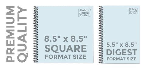 Premium Quality Spiral Bound Hobby and Religious Study Journals Made in the USA