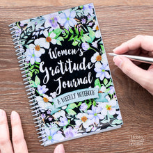 Load image into Gallery viewer, Pretty Gratitude Journal for Women Spiral Bound Made in USA