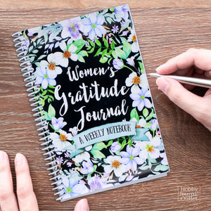 Pretty Gratitude Journal for Women Spiral Bound Made in USA