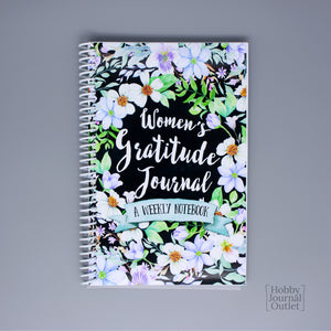 Watercolor Flowers Womens Gratitude Journal Christian Gift Notebook