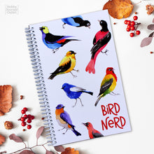 Load image into Gallery viewer, Bird Nerd - Bird Watching Journal - Spiral Bound - Made in USA - Premium Quality