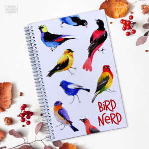 Bird Nerd - Bird Watching Journal - Spiral Bound - Made in USA - Premium Quality