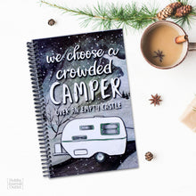 Load image into Gallery viewer, RV Camping Journal Gift Idea for Christmas Made in America Product