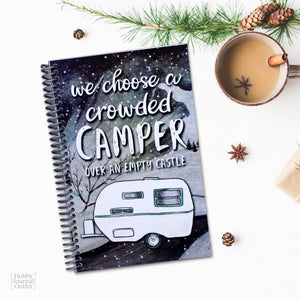 RV Camping Journal Gift Idea for Christmas Made in America Product