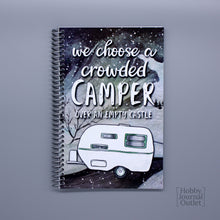 Load image into Gallery viewer, RV Camping Journal for Full-time Familes and Retired People Made in the USA Spiral Bound