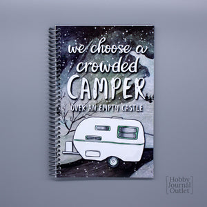 RV Camping Journal for Full-time Familes and Retired People Made in the USA Spiral Bound