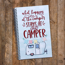 Load image into Gallery viewer, Spiral Bound Travel Journal for RV Camping Made in the USA