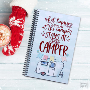 RV Camping Travel Trailer Road Trip Journal Logbook for Families and Couples