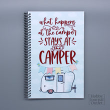 Load image into Gallery viewer, Funny RV Camping Travel Journal for Road Trips and Fulltime RV Families Made in USA Spiral Bound