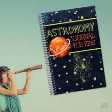 Load image into Gallery viewer, Kids Astronomy Observations Journal Spiral Bound Made in the USA