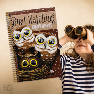 Kids Birder Journal for Fun Schooling Homeschool Nature Outdoor Science Spiral Bound