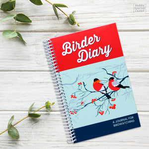 Womens Birder Diary Bird Watching Journal Spiral Bound Premium Quality