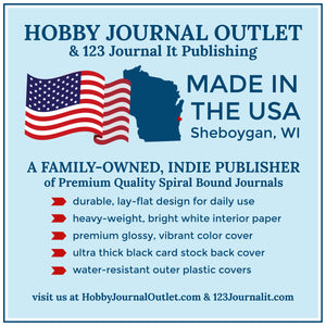 Premium Quality Made in the USA Spiral Bound Journal by Hobby Journal Outlet