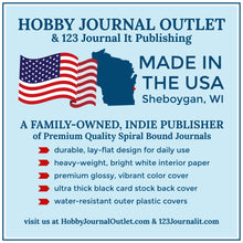 Load image into Gallery viewer, Hobby Journal Outlet Online Shop for Premium Quality Made in Sheboygan Wisconsin USA Spiral Bound Journals
