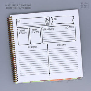 Camping and Nature Spiral Bound Travel Journal for Outdoor Adventures