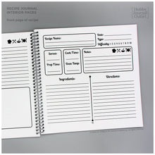 Load image into Gallery viewer, Blank Recipe Spiral Bound Journal to Write In