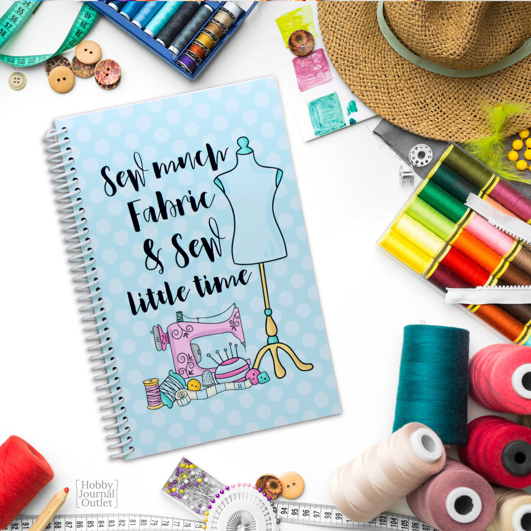 Sewing Projects Craft Journal for Seamstress to Record Patterns and Materials
