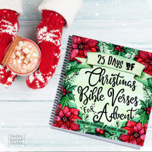 Load image into Gallery viewer, Christmas Advent Bible Devotional Spiral Bound Journal Made in the USA Christian Gift