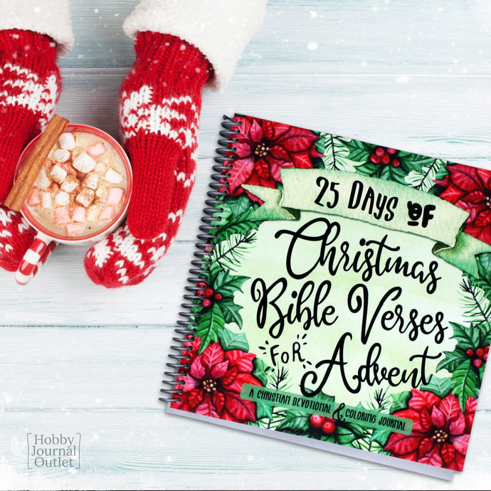Christmas Advent Bible Devotional Spiral Bound Journal Made in the USA Christian Gift