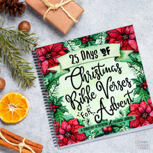 Load image into Gallery viewer, Family Advent Devotional Bible Study Made in the USA Spiral Bound Journal
