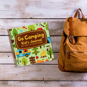 Go Camping Kids Travel Journal for Nature and Outdoor Adventures Camping in the Woods or RV Trailer