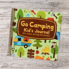 Load image into Gallery viewer, Premium Quality Made in USA Spiral Bound Travel Journal for Kids Camping and RVing Adventures to National Parks and Campgrounds