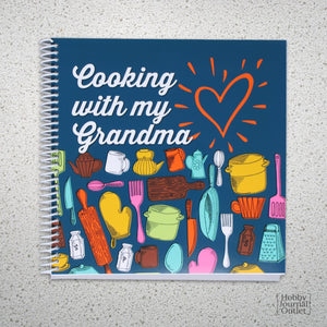 Cooking with my Grandma Keepsake Recipe Spiral Bound Journal for Grandmothers