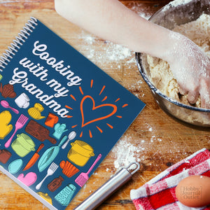 Cooking with my Grandma Keepsake Recipe Journal Kitchen Gift for Grandmothers