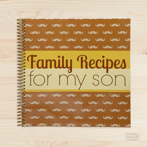 Keepsake Spiral Bound Journal for a Mom to Write Recipes in for Her Son