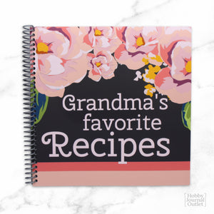 Premium Quality Made in USA Grandmas Favorite Recipes Spiral Bound Cookbook for Grandmothers