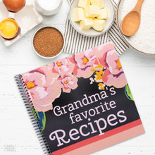 Load image into Gallery viewer, Kitchen Gift Grandmas Favorite Recipes Spiral Bound Cookbook for Grandmothers