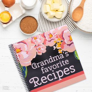 Kitchen Gift Grandmas Favorite Recipes Spiral Bound Cookbook for Grandmothers