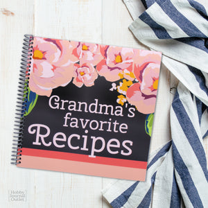 Grandmas Favorite Recipes Spiral Bound Cookbook for Grandmothers
