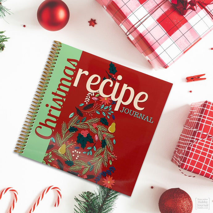 Christmas Recipes Blank Spiral Bound Journal to Write In