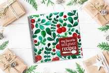 Load image into Gallery viewer, Premium Quality Spiral Bound Blank Recipe Journal for Your Christmas and Holiday Dishes