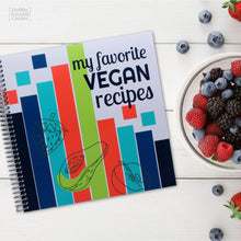 Load image into Gallery viewer, Favorite Vegan Recipes - Spiral Bound Journal - Made in the USA - Premium Quality